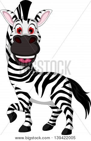 funny zebra cartoon smiling for you design