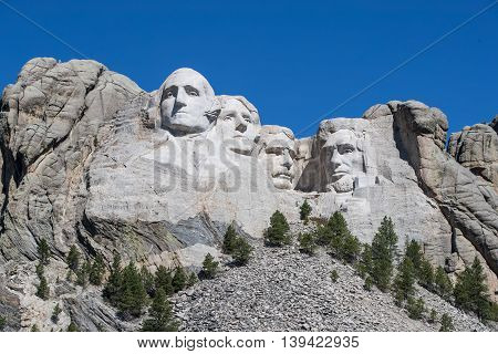 Mount Rushmore is located in the heart of the Black Hills of South Dakota