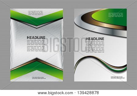 background with wave - brochure design of flyer, vector