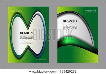 vector business brochure, flyer template. Presentation of flyer design content background.