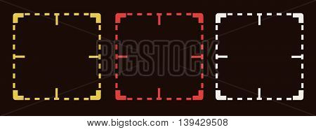 you are being watched , CCTV , Close Circuit Television watched sign vector