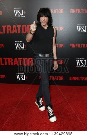 NEW YORK-JULY 11: Musician Marky Ramone attends 'The Infiltrator' New York premiere at AMC Loews Lincoln Square 13 Theater on July 11, 2016 in New York City.