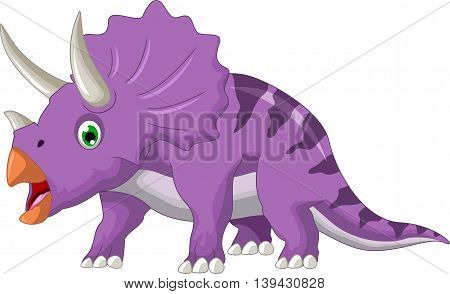 funny dinosaur Triceratops cartoon for you design