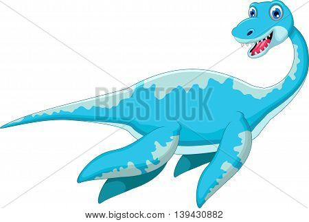 funny swimming dinosaur cartoon for you design