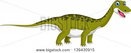 Cute dinosaur cartoon smiling for you design