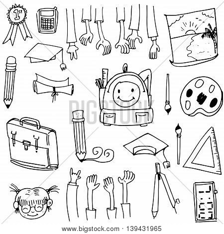 Doodle of school collection stock vector art illustration