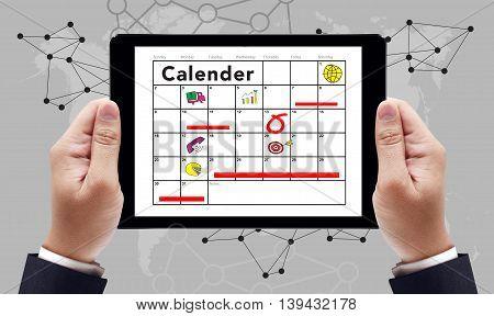 Calender Planner Organization Management hand man ipad