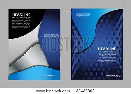 Illustration for your business presentations design abstract