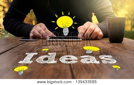Business Touch Ideas Concepts