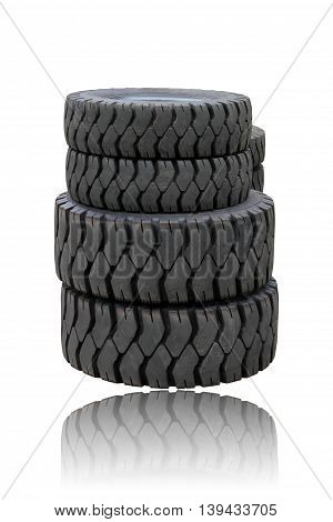 tire for truck isolated on white background .