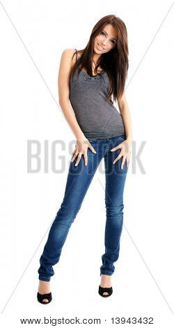 sexy girl in blue jeans