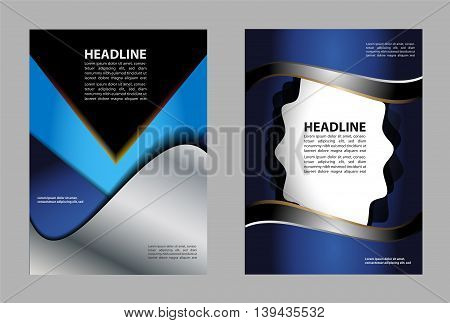 Illustrated colorful layout with abstraction. Magazine cover, business brochure template.