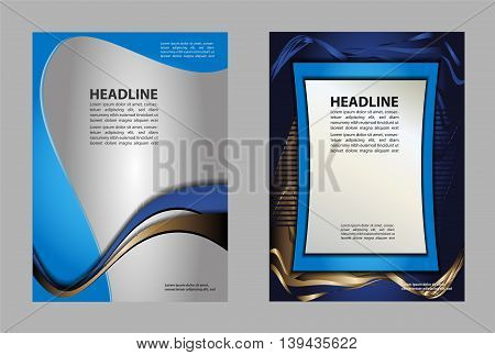 Flyer or Cover Design with Abstract Striped Pattern