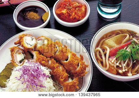Japanese cuisine cutlet