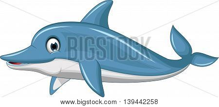 cute dolphin cartoon swimming for you design