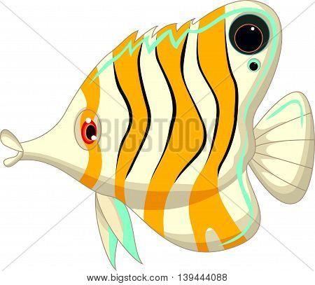cute angel fish cartoon for you design