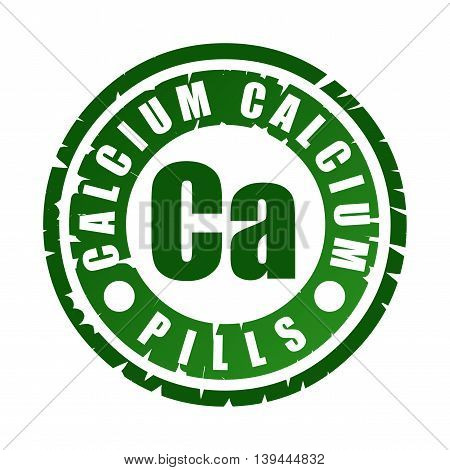 Rubber Stamp With Mineral Ca (calcium)