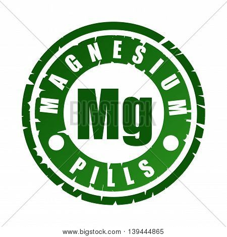 Rubber Stamp With Mineral Mg (magnesium)