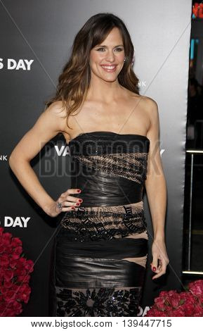 Jennifer Garner at the Los Angeles premiere of 'Valentine's Day' held at the Grauman's Chinese Theater in Hollywood, USA on February 8, 2010.
