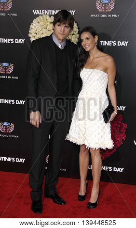 Demi Moore and Ashton Kutcher at the Los Angeles premiere of 'Valentine's Day' held at the Grauman's Chinese Theater in Hollywood, USA on February 8, 2010.