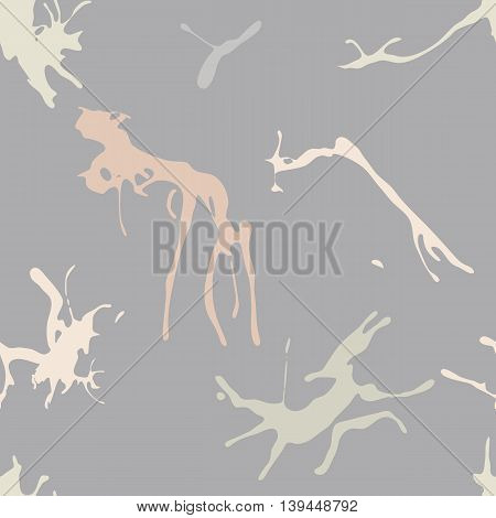 Abstract grunge vector seamless pattern with pastel blots.
