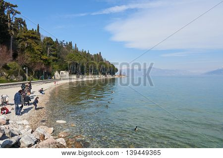 Trail In Sirmione, Italy