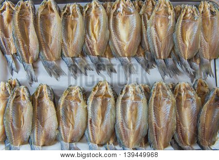 Dry Fish Out Salty Used In Asian Cuisine