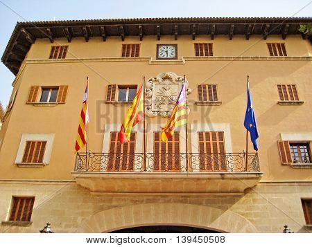 Soller Town Hall, Majorca, Spain