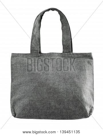 Tote fabric bag isolated on white background