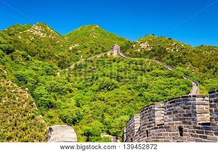 View of the Great Wall at Badaling - Beijing, China