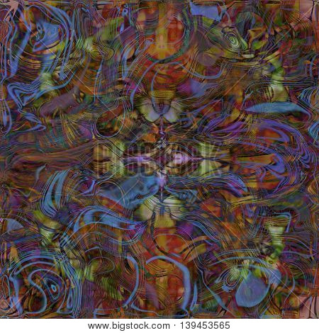 warm colored abstract pattern twisted shape motley background