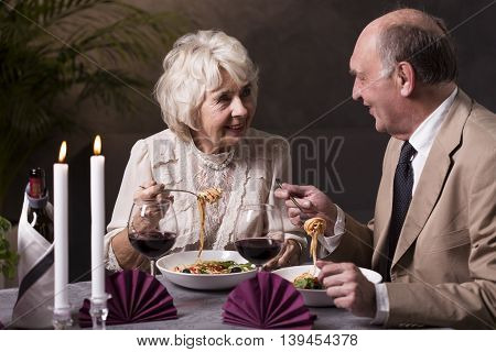 Spaghetti And Wine Is Always Good Idea