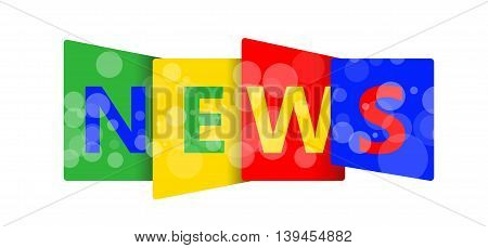 NEWS letters on white background for you design