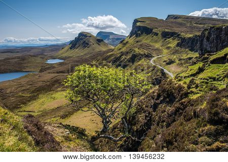 The Quiraing and Trotternish ridge on the Isle of Skye Scotland