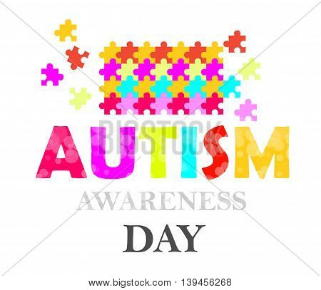 autism awareness day card for you design
