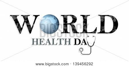 World health day concept for you design