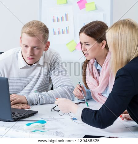 Image Of Teamwork At Office
