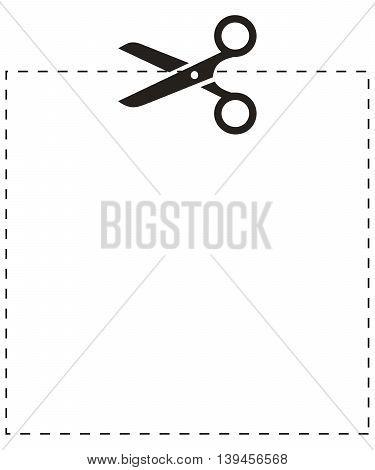 Scissors square cut line ceremony circle collection copy coupon