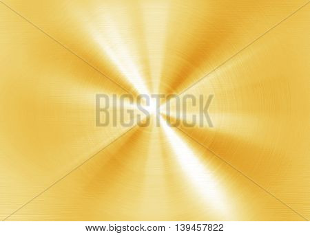 polished golden metal with rays pattern