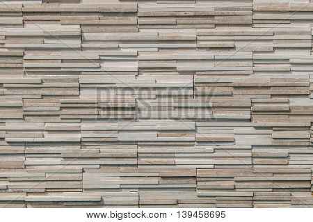 Pattern Of Modern Slate Stone Brick Wall Surfaced For Background