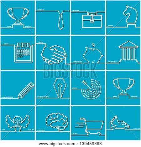 Vector Illustration of Business OutLine Icon Set for Design, Website, Background, Banner. Concept  Element, infographic Template. Finance Logo