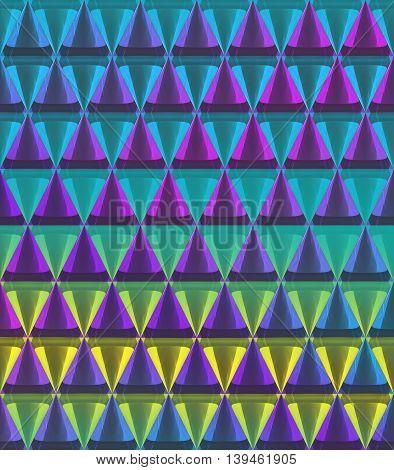 3D Crystal Cone Pattern Color Random