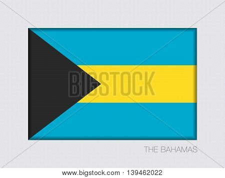 Flag Of Bahamas. Rectangular Official Flag With Proportion 2:3