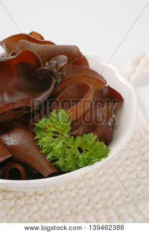 bowl of wood ear mushrooms