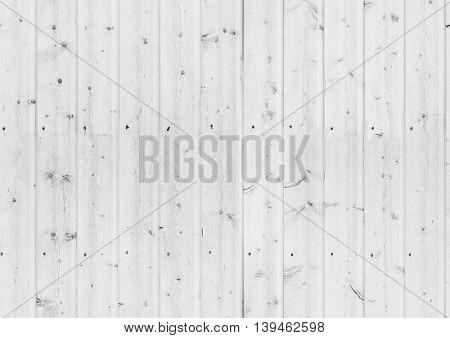 Old White Wooden Wall, Seamless Texture