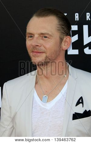 LOS ANGELES - JUL 20:  Simon Pegg at the