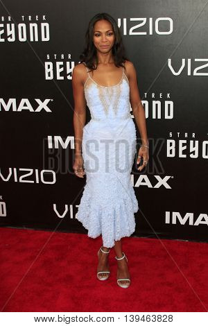 LOS ANGELES - JUL 20:  Zoe Saldana at the