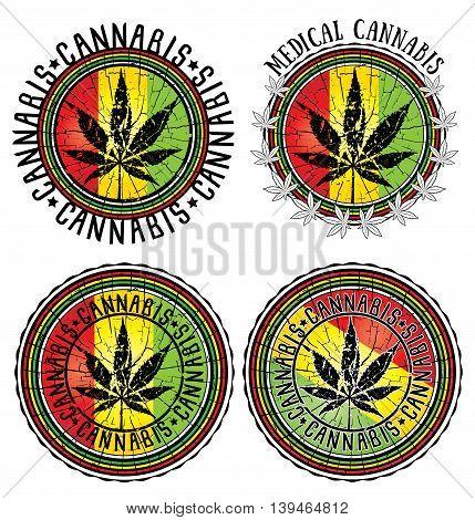 cannabis leaf design jamaican flag textured background