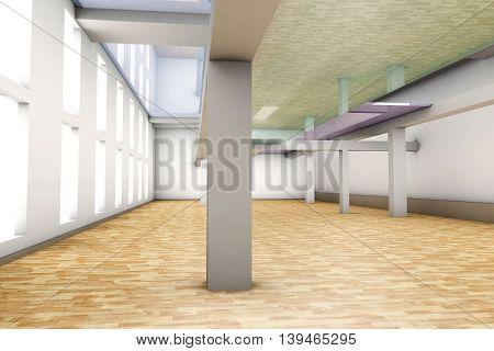 A modern empty Apartment interior. 3D rendered illustration.