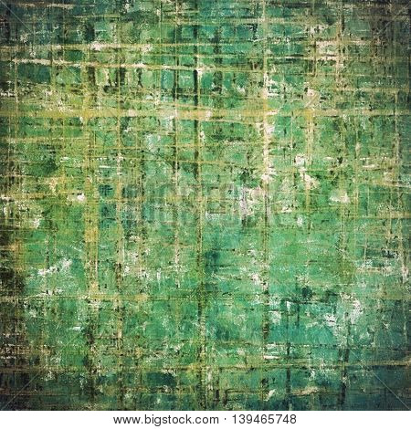 Oldest vintage background in grunge style. Ancient texture with different color patterns: yellow (beige); brown; gray; green; blue; cyan